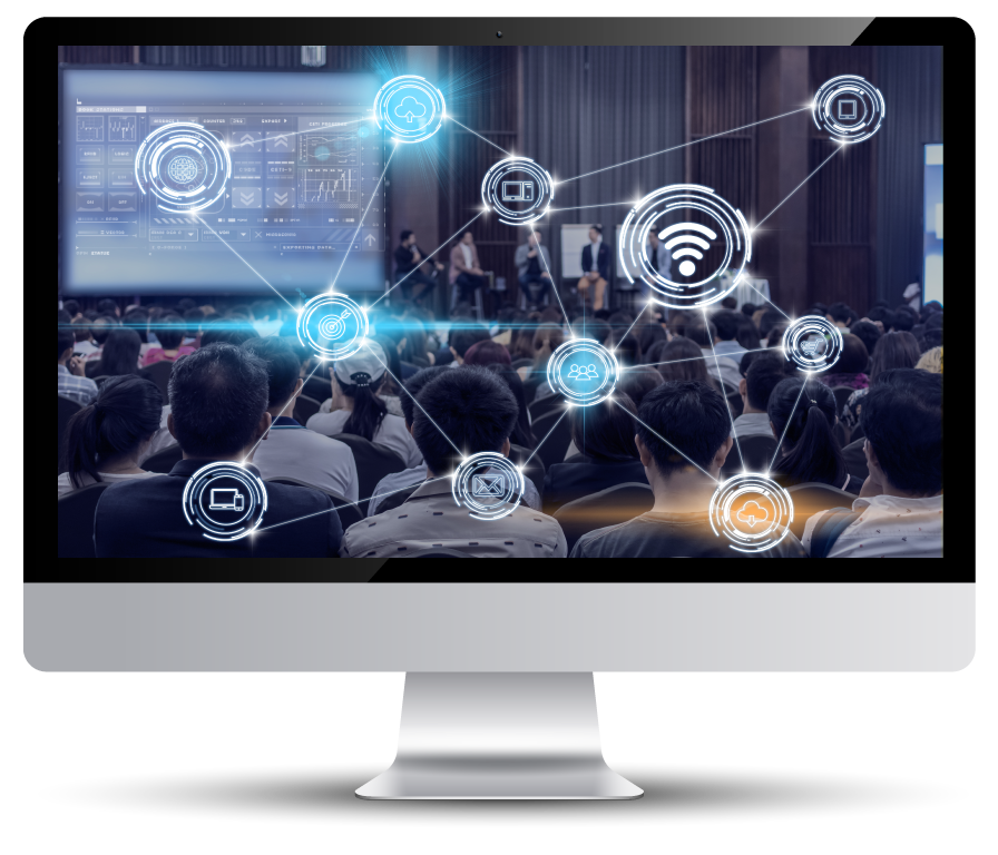 crowds in a desktop - invisit events